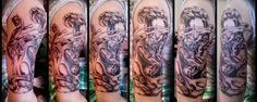 Tattoo by Jodypig #tattoos #killerink #coverup #blackandgrey #sleeve #unique #art #amazingink #tattooartist #tattooist #tattooer #artistattoos #bright_and_bold #uk #blacktattooart #ink #tattooflash #tattooed #tattoo #blackink #artist #personaltattoos #tattoosleeve #tattooportrait #superb_tattoo