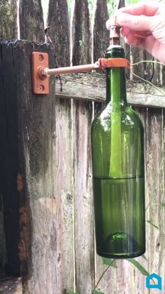 Create gorgeous and useful home decor with your empty wine bottles! bottle crafts videos 5 Way To Upcycle Your Wine Bottles Empty Wine Bottles, Wine Bottle Art, Diy Bottle, Recycled Bottles, Wine Bottle Windchimes, Recycle Wine Bottles, Wine Bottle Fence, Wine Bottle Fountain, Melted Wine Bottles
