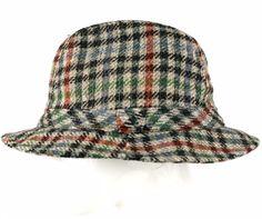 Vintage Tweed Wool Fedora Hat Plaid LL Bean Walking Hat size 7 1 4 1f32ed4f745d
