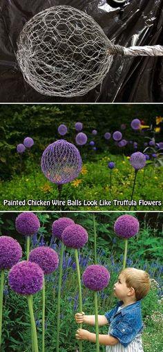 Cool DIY garden balls make your garden more interesting - Diyprojectgardens.club Cool DIY garden balls make your garden more interesting interesting In modern . Diy Garden Projects, Garden Crafts, Cool Diy, Easy Diy, Unique Garden, Colorful Garden, Jardin Decor, Brick Patterns Patio, Garden Balls