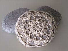 Crocheted Lace Coverd Stone