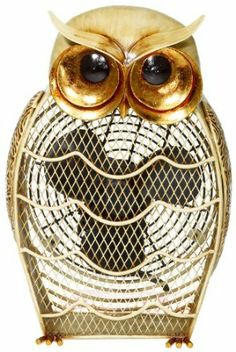 Amazon.com - Deco Breeze Snow Owl Fan - Electric Household Tabletop Fans