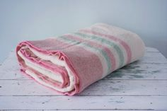 Vintage Ayers Pure Wool Blanket  Made in Canada by Pigeonatelier, $50.00