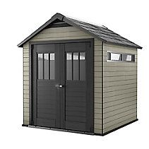 Keter Fusion X Resin Storage Shed In Mahogany