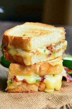 Jalapeno Popper Grilled Cheese | from willcookforsmiles.com