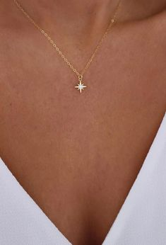 Tiny Gold Star Necklace Mini Star Necklace Dainty Celestial Necklace Bridesmaids Necklace Constellation Jewelry Gift for Her Gold Filled Jewelry, Dainty Jewelry, Simple Jewelry, Cute Jewelry, Jewelry Gifts, Jewelry Necklaces, Women Jewelry, Gold Bracelets, Womens Jewelry Rings