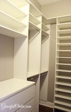 One possibility of how to do the corner of Olivia's closet.