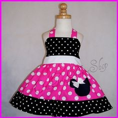 My youngest LOVES MInnie!! How cute is this dress?!