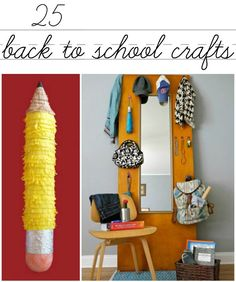 25 super fun and easy back to school crafts that you and the kids can make now!