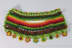 Crochet Beaded Bracelet Cuff. Crochet by KaterinaDimitrova on Etsy
