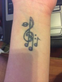 My one-of-a-kind wrist tattoo :) for those who are looking for some music tattoo inspirations