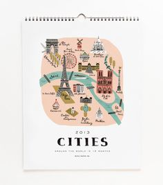 ++ 2013 Cities Calendar by Rifle Paper Co.