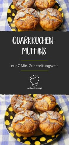 Quark cake muffins - It only takes 7 minutes to prepare because all the ingredients . - Quark cake muffins – It only takes 7 minutes to prepare, as all the ingredients are simply stirre - Lunch Snacks, Yummy Snacks, Healthy Snacks, Muffins Sains, German Baking, Beef Noodle Soup, Taiwanese Cuisine, Cupcakes, Healthy Muffins