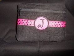 Lined embroidered cosmetic bag by TheQuiltHandler on Etsy, $15.00