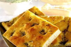 Easy Rosemary Focaccia Bread recipe on Bachelor Recipe. A famous Italian bread topped with garlic, basil, rosemary and bell peppers.