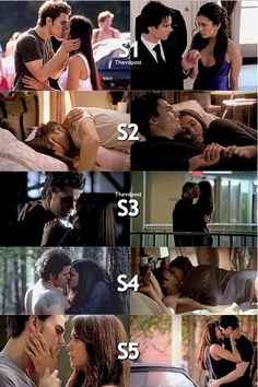 Stelena/Delena Seasons 1-5. There is. Ore passion in the Delena side.