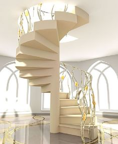 Spiral Staircase Designs for Homes | Home Dezine: Staircase with shape spiral design Design - Modern Home ...