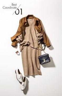 Brownish Look from Uniqlo Work Fashion, Fashion Pants, Daily Fashion, Hijab Fashion, Fashion Outfits, Womens Fashion, Fashion Trends, Uniqlo, Fall Outfits