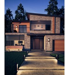 classic contemporary houses # ~ modern house design contemporary ` house exterior design with garden ` uraraka icon ` classic contemporary houses ` dkb yuku Modern Architecture House, Architecture Design, Modern House Facades, Pavilion Architecture, Organic Architecture, Residential Architecture, Modern Exterior, Modern Home Exteriors, Modern Style Homes