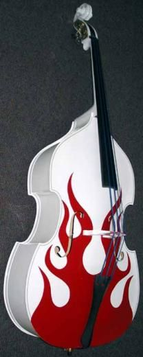 Products Name: Flame Pattern Double Bass