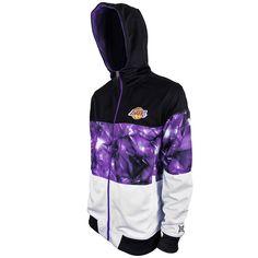 ec5edd8cf Los Angeles Lakers Youth Brilliant Full Zip Hoodie - Black