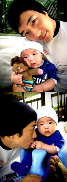 Kwon Sang Woo recently shared some heartwarming pictures with his son, Rook Hee.