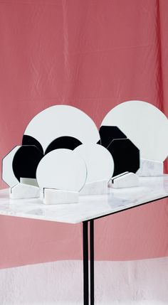 As playful as it is refined, the Octagon Marble Mirror is the epitome of boudoir chic.