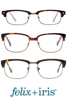 e0feaa26745b 3 Classic Browline Glasses in an always classic tortoise color