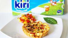 Quiche aux légumes du soleil et fromage Kiri®