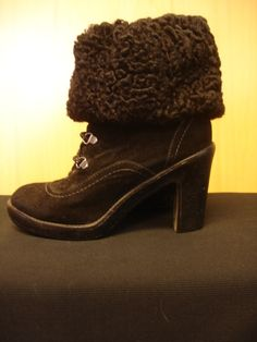 66e58f3382d44 Real Fur Black Persian Lamb Boot Cuffs by furgirl on Etsy Vintage Fur