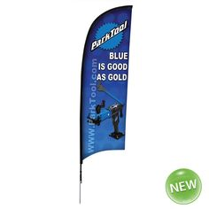 9' Blade Banner Kit with Spike Base. Full color, single sided dye sublimation printed banners command attention. Poles are constructed of a strong, superior, flexible carbon composite material. The pole pocket is heavy, durable binding to give extra strength and the edges are double stitched for durability. The base has a ball bearing, which allows the flag to spin in the wind with less wind resistance. Kit Includes: Hardware, Banner and Carry Case. White polyester flag fabric. Product…