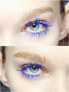 blue eyelashes give a great look when u dont wanna use shadow