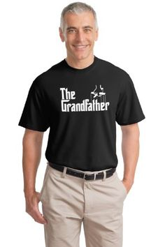 The Grandfather | Funny Father's Day Grandpa Godfather Spoof Unisex T-shirt-Black
