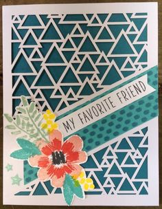 Stampin' Up! Paper Pumpkin Alternative - May 2016 Stampin Up Paper Pumpkin, Pumpkin Cards, Friendship Cards, Scrapbook Cards, Scrapbooking, Paper Cards, Flower Cards, Greeting Cards Handmade, Stampin Up Cards