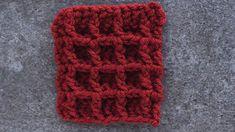 Crochet Waffle Stitch Tutorial