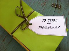 """70 years of memories"" birthday idea. 70 envelopes filled with memories of 70 years. from the third boob....and other adventures in mommyhood"