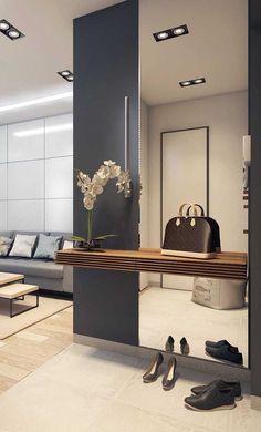 Home Room Design, Home Interior Design, Living Room Designs, House Design, Apartment Interior, Room Interior, Home Living Room, Living Room Decor, Entrance Hall Decor