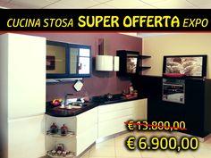 Cucina Stosa, completa di frigo, lavastoviglie, piano cottura 5 fuochi, forno, lavello, miscelatore; in SUPER PROMO EXPO