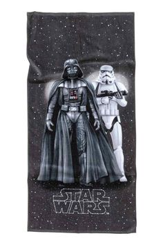 Kuviollinen kylpypyyhe - Musta/Star Wars - Home All | H&M FI 1