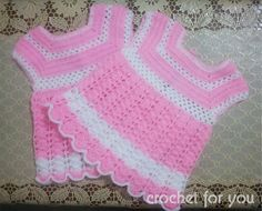 Crochet Baby girl dress Comments 386 Here is a crochet baby dress pattern for old month baby girl. The pattern works to. Crochet Baby Dress Pattern, Baby Girl Dress Patterns, Crochet Bebe, Baby Girl Crochet, Crochet Baby Clothes, Baby Girl Dresses, Crochet For Kids, Baby Patterns, Free Crochet