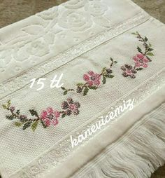 Needle And Thread, Tatting, Needlework, Sewing Projects, Shabby Chic, Towel, Cross Stitch, Bargello, Embroidery