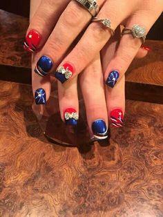 July 4th Nails Designs, Nail Designs, Pandora Charms, Nail Art, Bracelets, Beauty, Jewelry, Jewlery, Jewerly