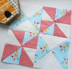 Farmer& Wife block no. 20 - patched from half-square-triangles. Find out more about my Farmer& Wife blocks at the Patchsmith. Sampler Quilts, Scrappy Quilts, Mini Quilts, Quilt Block Patterns, Pattern Blocks, Quilt Blocks, Quilt Kits, Quilting Projects, Quilting Designs