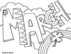 March Coloring Page Make your world more colorful with free printable coloring pages from italks. Our free coloring pages for adults and kids. Spring Coloring Pages, Coloring Pages To Print, Free Printable Coloring Pages, Coloring Book Pages, Coloring Pages For Kids, Coloring Sheets, Kids Coloring, Desenhos Halloween, March Colors