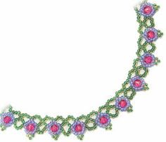 Free Bead Patterns and Ideas : Flower Net Necklace - Free Pattern