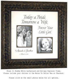 Custom Wedding Frame Parents Wedding Gifts by PhotoFrameOriginals