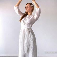 MIDI LINEN DRESS linen clothing plus size dress linen   Etsy Wedding Dress Sleeves, Boho Wedding Dress, Dresses With Sleeves, Wedding Dresses, Sustainable Looks, Belted Dress, Dress Long, Evening Dresses, Summer Dresses