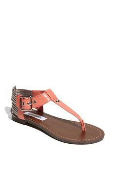 Steve Madden sandals. coral. want.