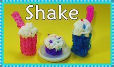 Rainbow Loom 3D SHAKE/ FRAPPE Charm (Barbie or American Girl Doll). Designed and loomed by DIYMommy. Click photo for YouTube tutorial. 05/04/14.