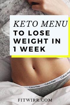 Keto diet menu to lose weight in 1 week.   #ketomenu #ketodietmealplan #ketoweeklymenu #ketotoloseweight #loseweightonketo #fitwirr
